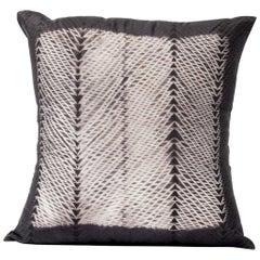 ARA Black Shibori  Silk Pillow