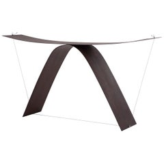 Equilibrium Console Table in Steel and Aluminum by Guglielmo Poletti