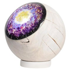 Large Lamp Eyeball Colorful Decorative Wood and Cast Glass Light Projection