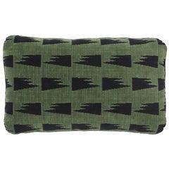 Schumacher David Kaihoi Tutsi Green Two-Sided Cotton Pillow