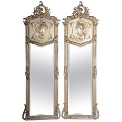 Pair of Mirrors or Wall Mirror in Louis XV / Baroque Style