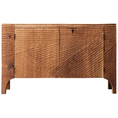 Contemporary Brutalist Style Commode in Solid Oak 'Custom Size'