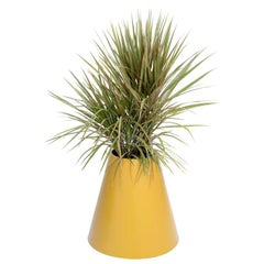 Cone Planter by Pieces, Yellow Fiberglass Planters