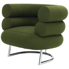ClassiCon Bibendum Armchair in Fabric with Steel Base by Eileen Gray