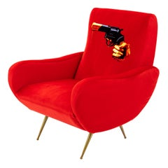 "Seletti ""Revolver"" Upholstered Armchair by Toiletpaper Magazine"