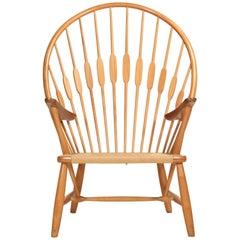 Peacock Chair by Hans Wegner for Johannes Hansen, 1960s Denmark, Signed