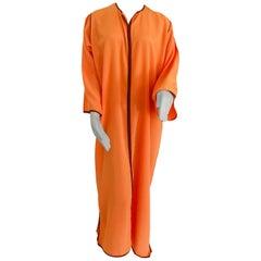 Moroccan Orange Kaftan Maxi Dress Caftan Size Large