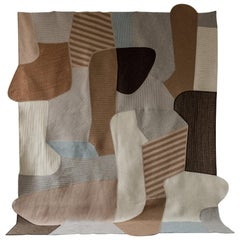 Walling Braided Wool Contemporary Abstract Sculptural Stripe Rug