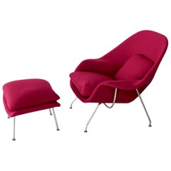 Womb Chair with Footstool by Eero Saarinen for Knoll, 1959