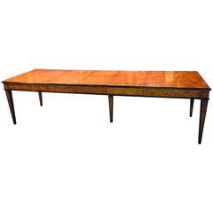 Extending Table in Biedermeier Style Bird's-Eye Maple