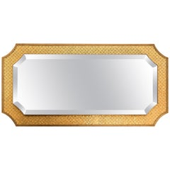 Mirror Bronze or Silver Finish and Decorated with Mosaic, Led Backlighting