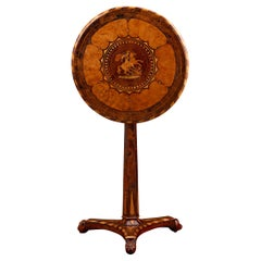 19th Century Caribbean Marquetry Tilt-Top Table