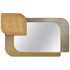Mirror Bronze or Silver Finish Decorative Tiny Mosaic LED Backlighting