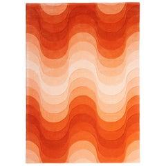 Wave Hand-Tufted Rug in Orange by Verner Panton