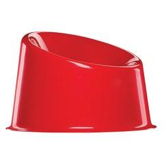 Panto Pop Chair in Red by Verner Panton