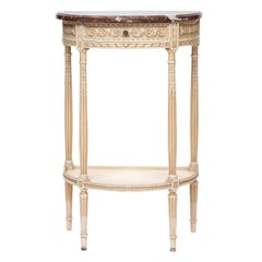 Louis XVI Painted Marble-Top Console