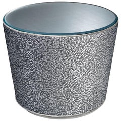 Fantastic Nightstand Table in Fabric or Leather Top in Vetrite