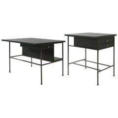 Complimenting Set of Bronze End Tables by Paul McCobb