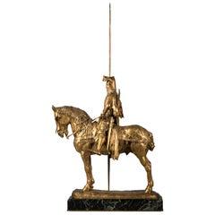 French Gilt Bronze of Louis d'Orleans, by Emmanuel Fremiet