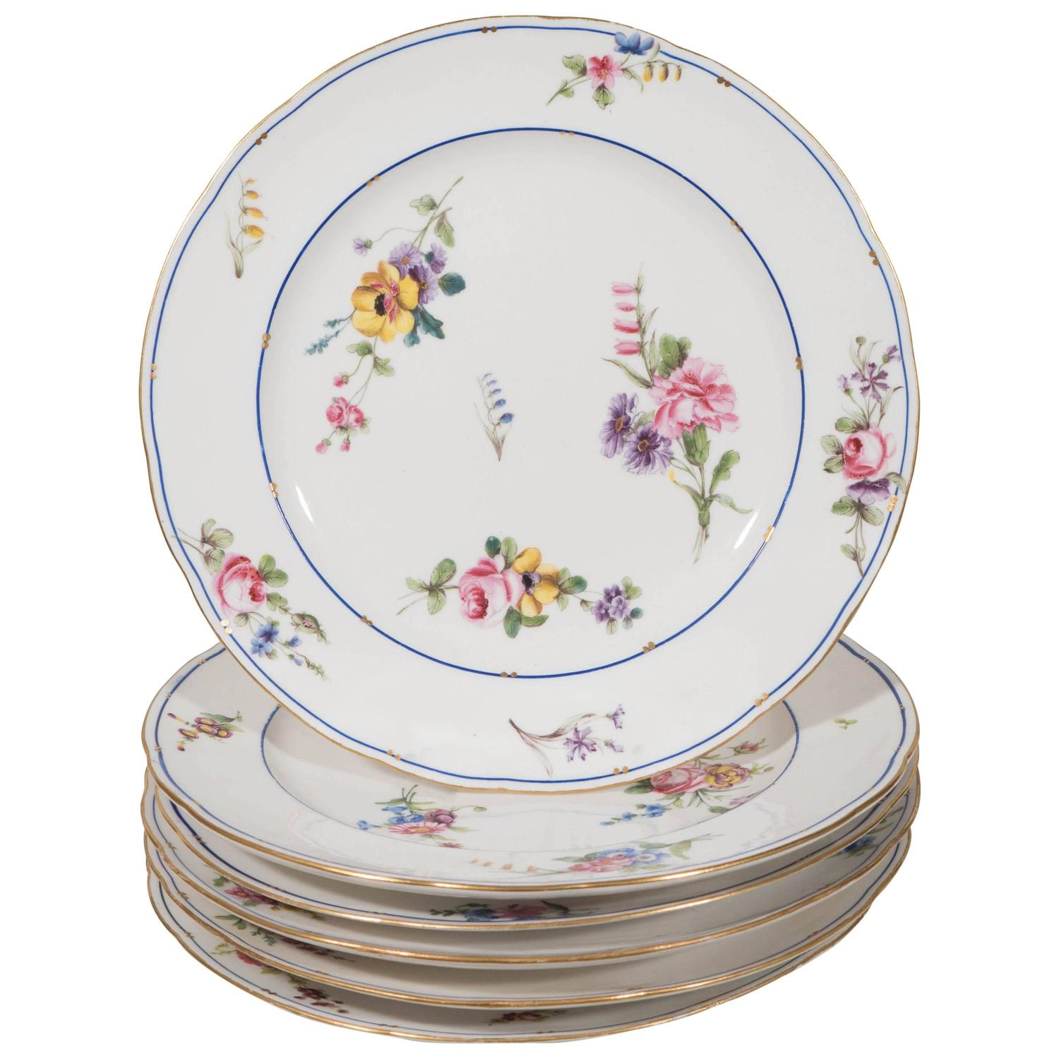 Sèvres dinner dishes, ca. 1785