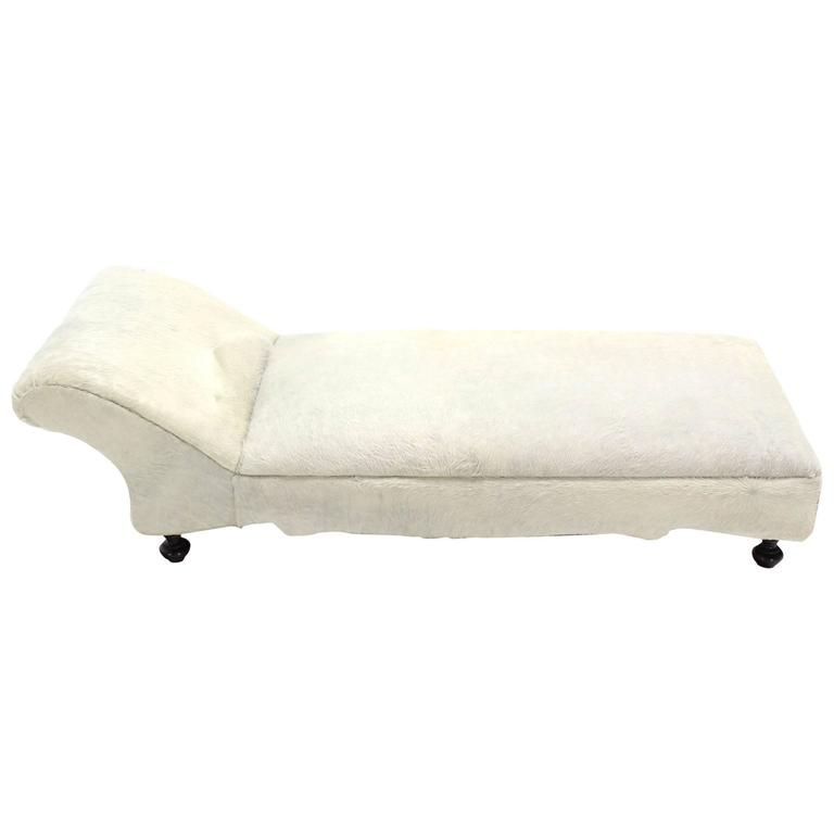 Cow Hide Upholstery Chaise Longue Daybed At 1stdibs