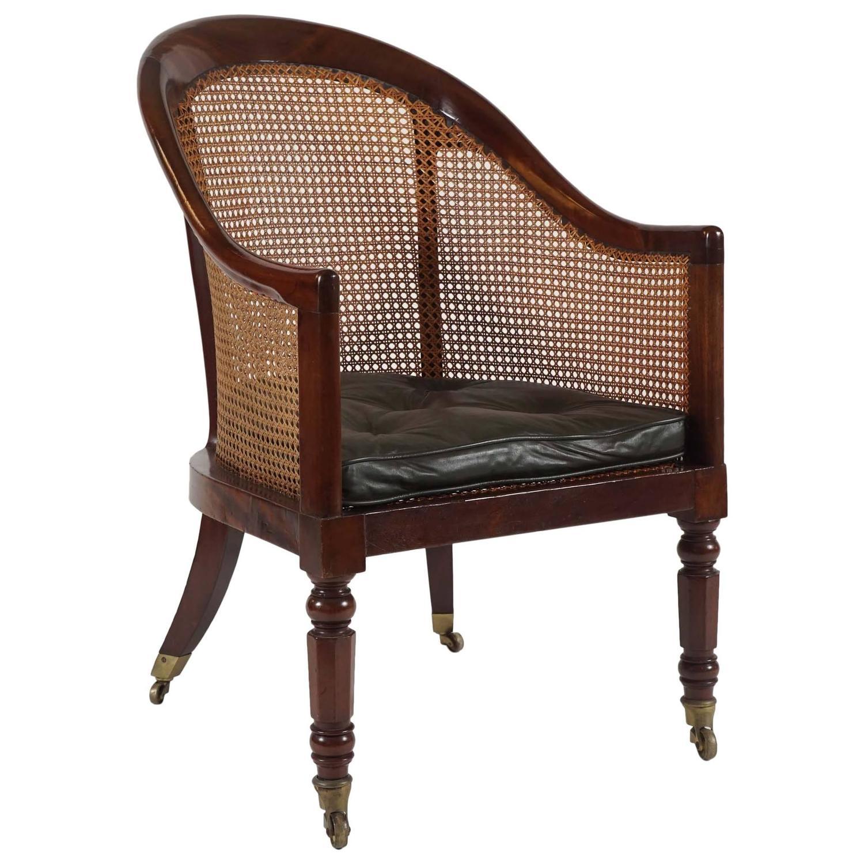 Regency library armchair, 1822