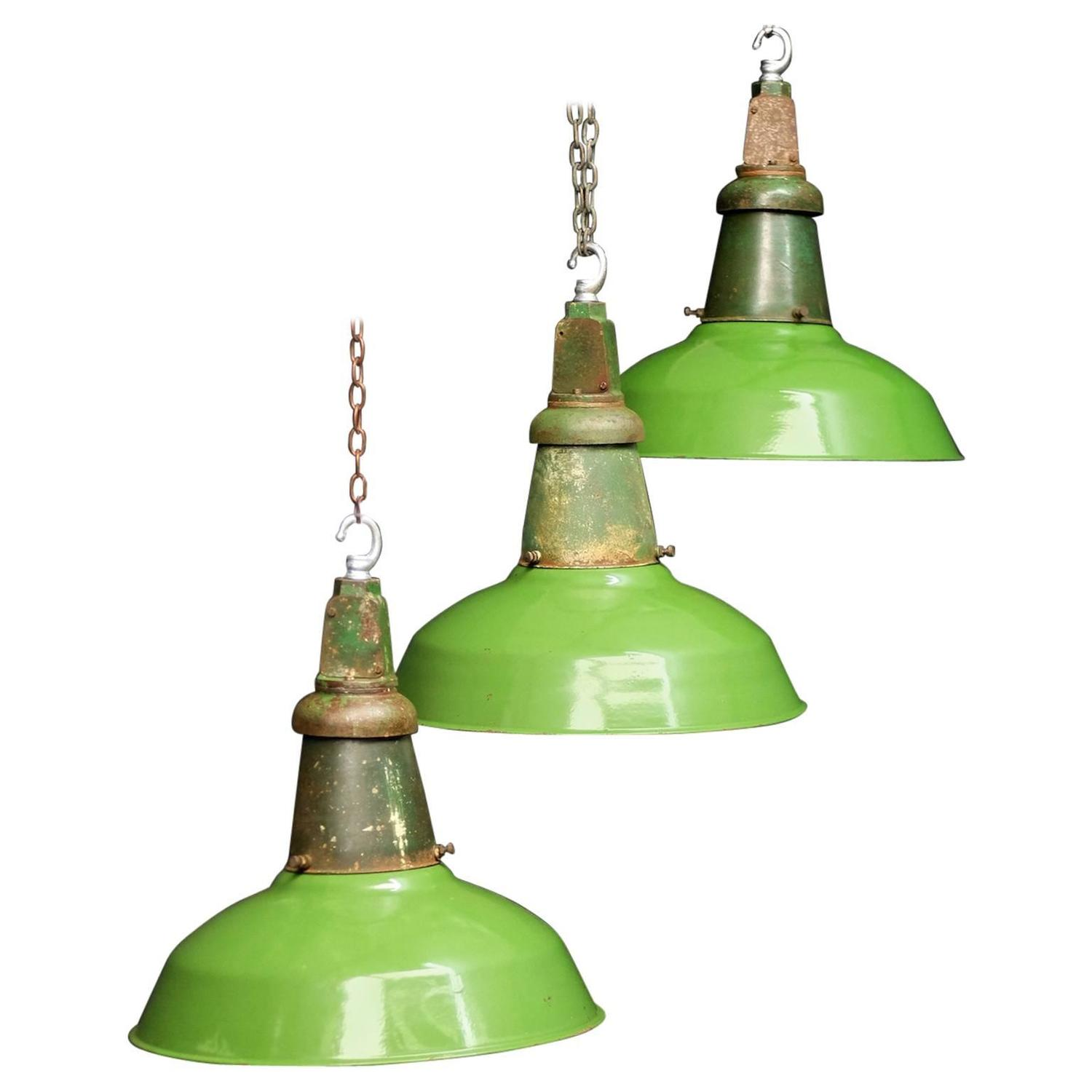 Wardle of Manchester industrial pendants, 1940