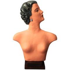 Art Deco Plaster Bust Mannequin