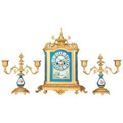 Sèvres Clock Garniture