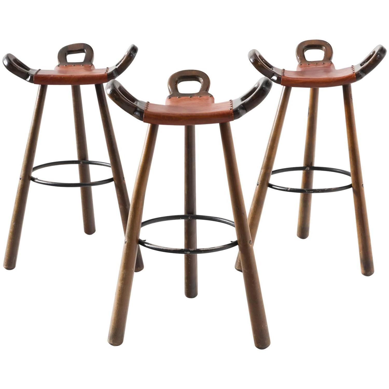 Brutalist bar stools, 1970s