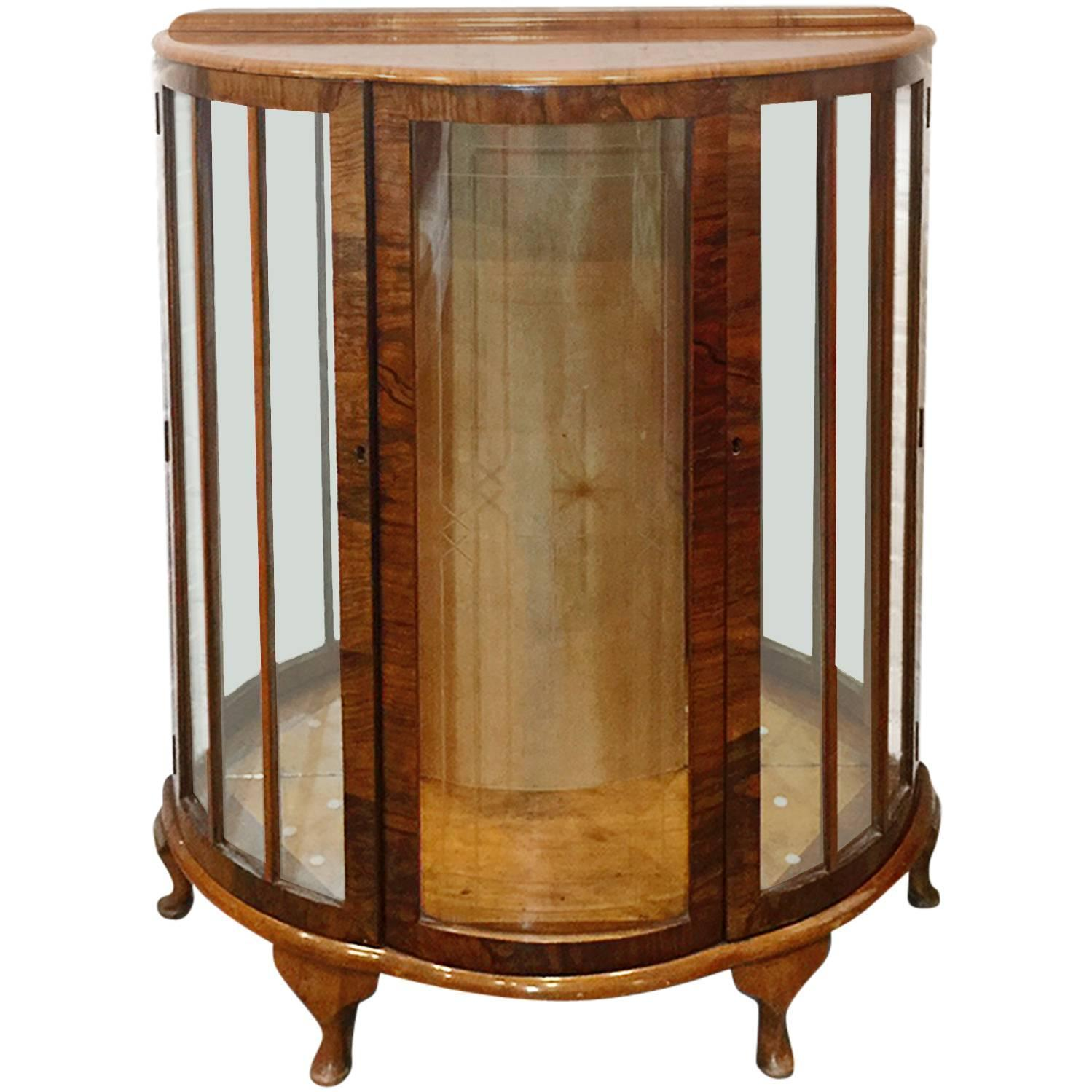 Handsome Deco Style Curio Cabinet For Sale At Stdibs