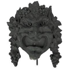 Marie Zimmermann Bacchus Fountain Mask by Roman Bronze Works, circa 1915