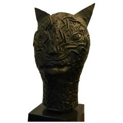 Bronze Cat Signed Jean Cocteau