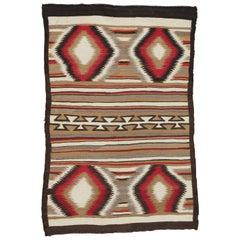 Antique Navajo Rug, Folk Rug, Red Rug, Oriental Rug, Patterned Rug