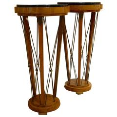 Pair of American 1940s Neo-Classical Pedestals