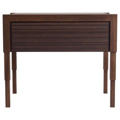 Chicago Case Side Table in Walnut by May Furniture