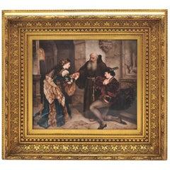 Large KPM Porcelain Plaque of 'Romeo and Juliet' 19th Century