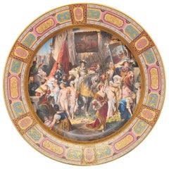 Large Vienna Porcelain Charger, 19th Century