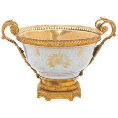 18th Century Chinese Export Ormolu Mounted Bowl