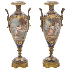 Pair of 19th Century Sevres Porcelain Vases