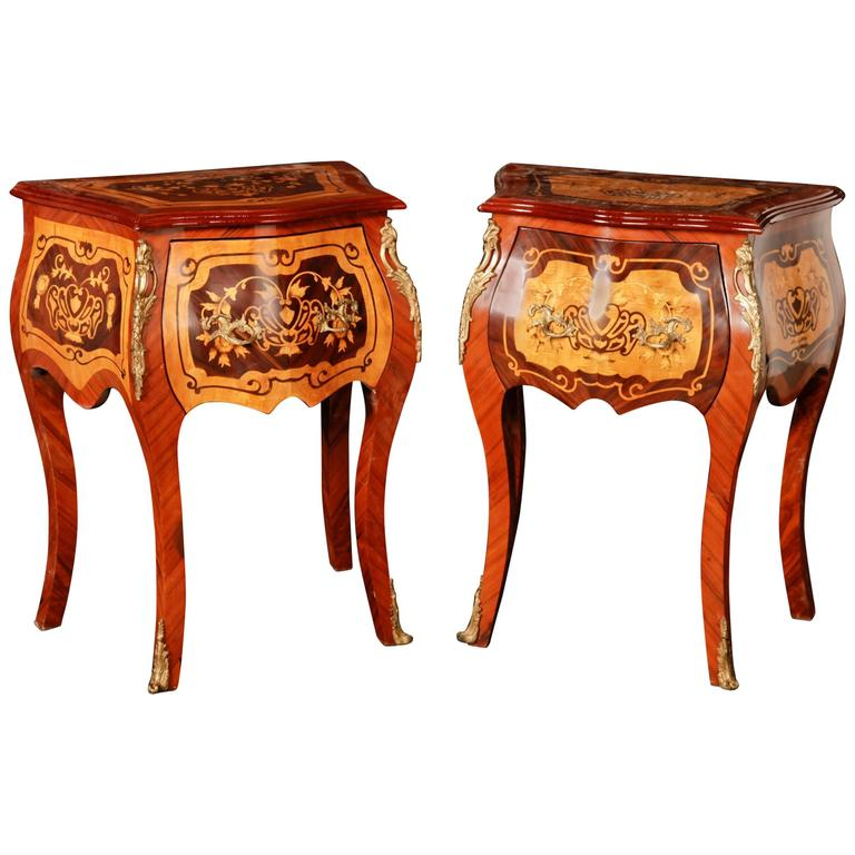 Pair Of French Empire Stylee Chest Drawers Commodes Nightstands