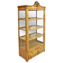 19th Century Late Biedermeier or Louis Philippe Display Cabinet in Cherrywood