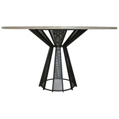 "James de Wulf Harvest Dining Table, 60"" - Concrete and Steel"