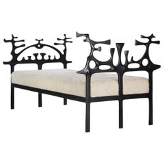 Surrealist Bronze Daybed by Victor Roman