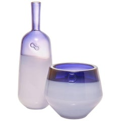 Branded Series Set in Amethyst - Handmade Contemporary Glass Vessels