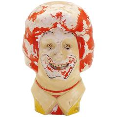 Large Weird, Creepy, Perfectly Patinated Plastic Clown Head