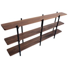 Gordo Bookshelf, Solid Wood, Powder Coated Steel, Customizable