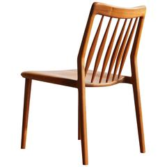 C04. Solid Walnut Dining Chair with Spindle Back, by Jason Lewis Furniture