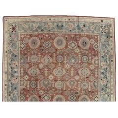 Antique Oushak Carpet, Red Carpet, Handmade Carpet, Turkish Carpet, Brown, Green