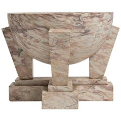 Art Deco Carved Marble Fountain Basin or Planter
